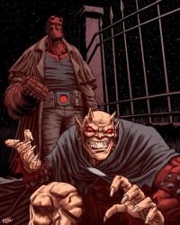 Hellboy and Etrigan by Fuacka