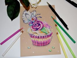 Butterfree and the Cupcake by Lighane