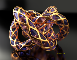 Guilded pretzel by fractalyst