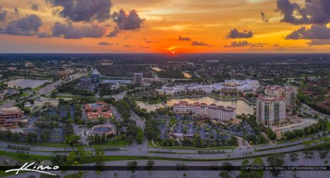Palm-Beach-Gardens-Downtown-Wide-Panorama-Aerial by CaptainKimo