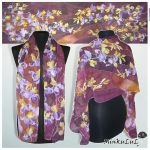 Silk scarf IRIS hand painted - FOR SALE! by MinkuLul