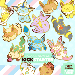 Nekomon Enamel Pins on Kickstarter by GBIllustrations