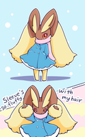 Lopunny Winter Clothed by conbudou