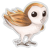 Barn owl by HatoriKumiko