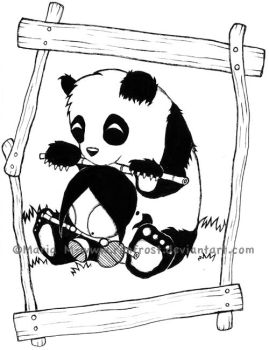 Maria and the panda by Rimfrost