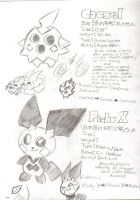 Cascel and Pichu X by Fandom-Hearts