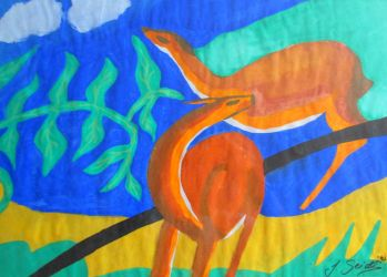 Deers - a Tribute to Franz Marc by JassysART