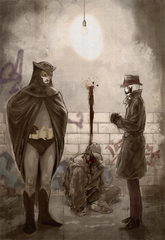 Rorschach and Nite Owl by wolfie-thu