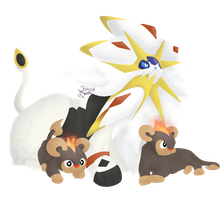 Solgaleo with Litleos