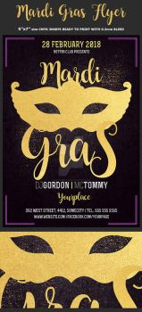 Mardi Gras Flyer Template by Hotpindesigns