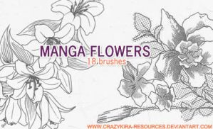 Manga Flowers by crazykira-resources
