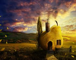 The Pear House at the End of the Lane by ianvicknair