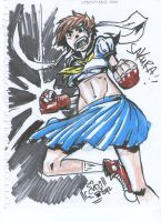 Con drawing: Sakura by coolmonkeyd