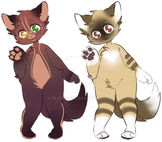 Anthro Cat Adopts 3 :OTA Closed: by PilusWorks