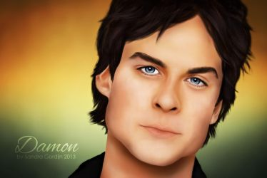 Damon Salvatore by sendee