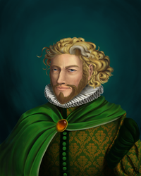 The Man in Green by Roqi