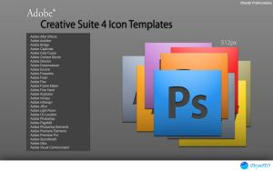 Adobe CS4 Icon Templates by bharathp666
