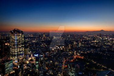 Tokyo evening view by Keith-Killer