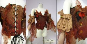 Forest Corset and Sleeves by Firefly-Path