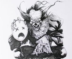 Pennywise inktober2017 by Adrianohq