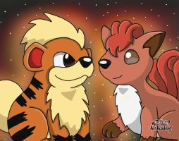 Growlithe and Vulpix