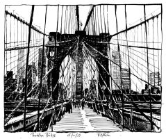 Brooklyn Bridge by RoodyN
