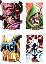 Fantastic Four Sketch Cards by Cinar