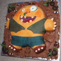 Morris The Mankiest Monster cake 2 by BevisMusson