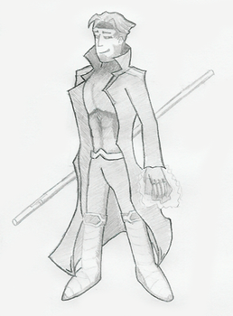 Gambit from 'X-Men'.scrap by fcomX