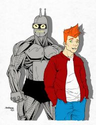 Bender and Fry by immyownscaffold