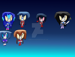 Chibi Ultrawomen by AnimeArtist154ever