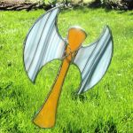 Stained Glass Battle Axe by bigblued