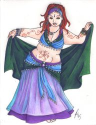 The Bellydancer by rachelillustrates