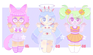 [A] -Pastel Halloween Adopts- [CLOSED~!] by Star-Rune-Pop