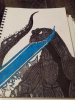 My Godzilla gmk. Almost done! by Shin-Ben