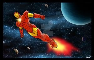 IRON MAN  marvel series print by Chadfuller