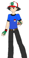 Ash in Total Fanmake by NeoduelGX