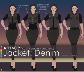 AFH: Jacket - Denim by EMCCV