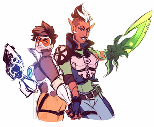 Tracer and Melka by Deer-Head