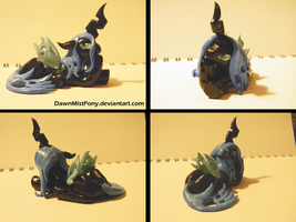 Chrysalis sculpt. by DawnMistPony