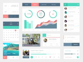 Free PSD UI Kit by DarkStaLkeRR