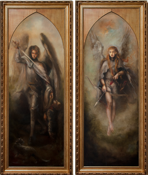 Conquest of the Morning Star Diptych by DustinPanzino