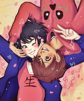 Selfie - Hiro and Miguel - by KiraiRei