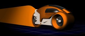 my Tron Lightcycle - 3d tests2 by jayse-