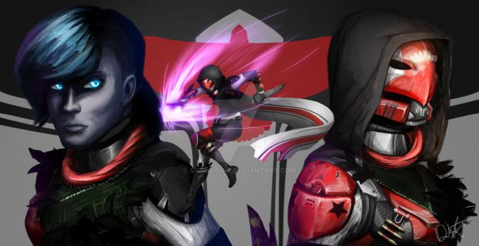 Destiny Character Homage Painting by Saber-Cow