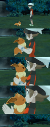 [MMD] (comic) (req) Eevee used 'Lovely Tackle' by Jasalad