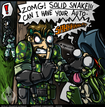 'EDIT' ZOMG NAKED SNAKE by DaKraken