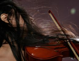 Girl With Violin 1 by b-e-c-k-y-stock