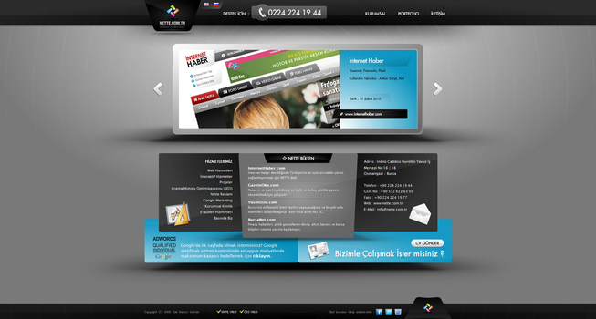 Nette Corporate Site by nettetechnology
