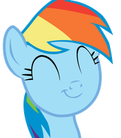 Rainbow Dash - Happy face by ColonelWalther